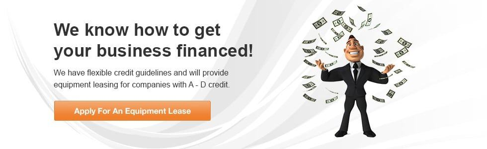 Equipment Financing Available For Start Up And Bad Credit