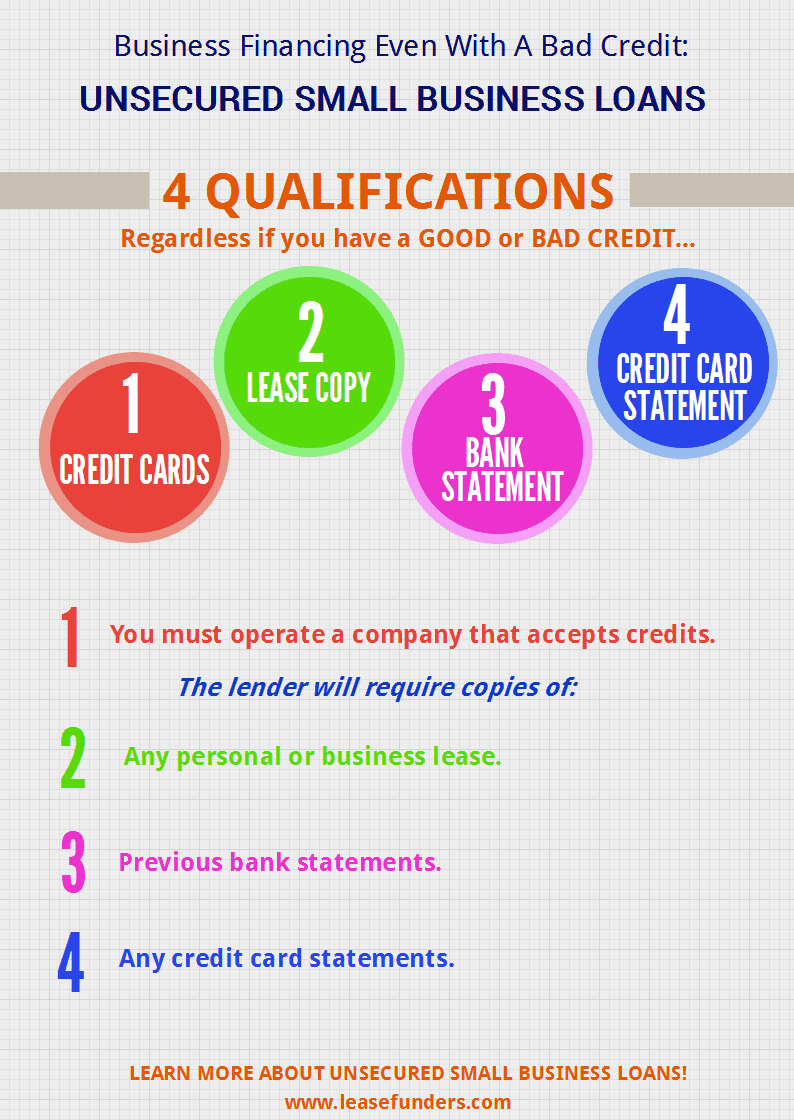 business financing even with a bad credit unsecured small business loans - Business Credit Card With Bad Personal Credit