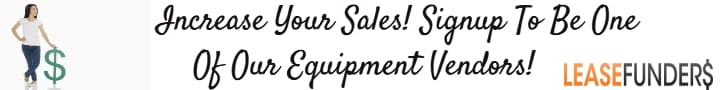 sign up for our equipment vendor program