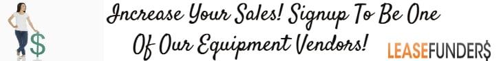 sign up for our equipment vendor program
