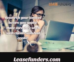 research bad credit lenders
