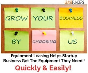 equipment leasing helps finance startup businesses!