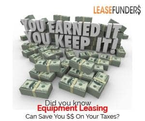 equipment leasing saves you money on your taxes