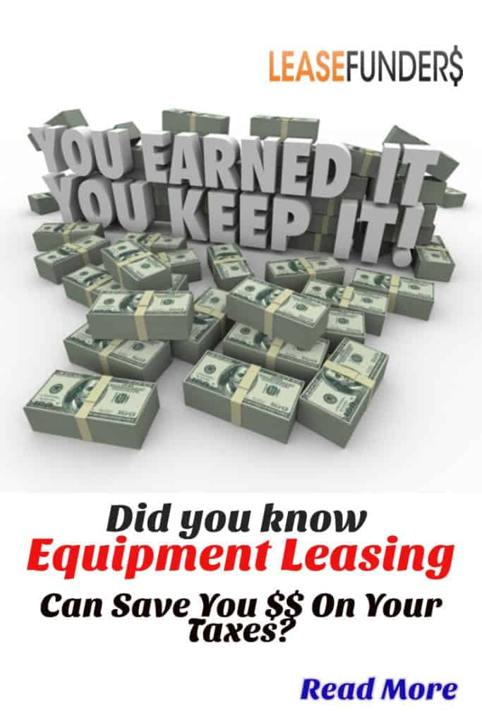 Not only does equipment leasing provide financing for startup businesses, but it can save you a lot of money on your taxes! Click here to learn more!