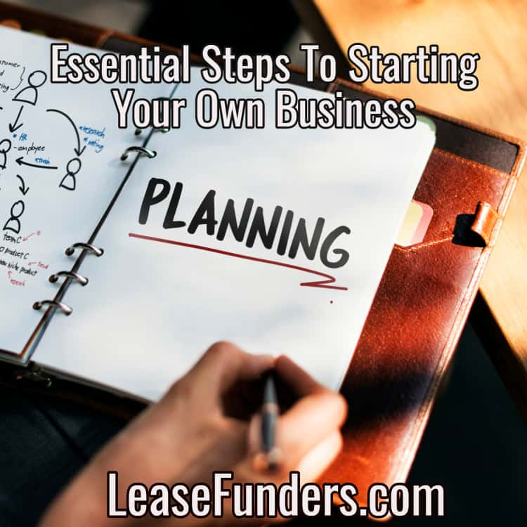 steps to starting your own business